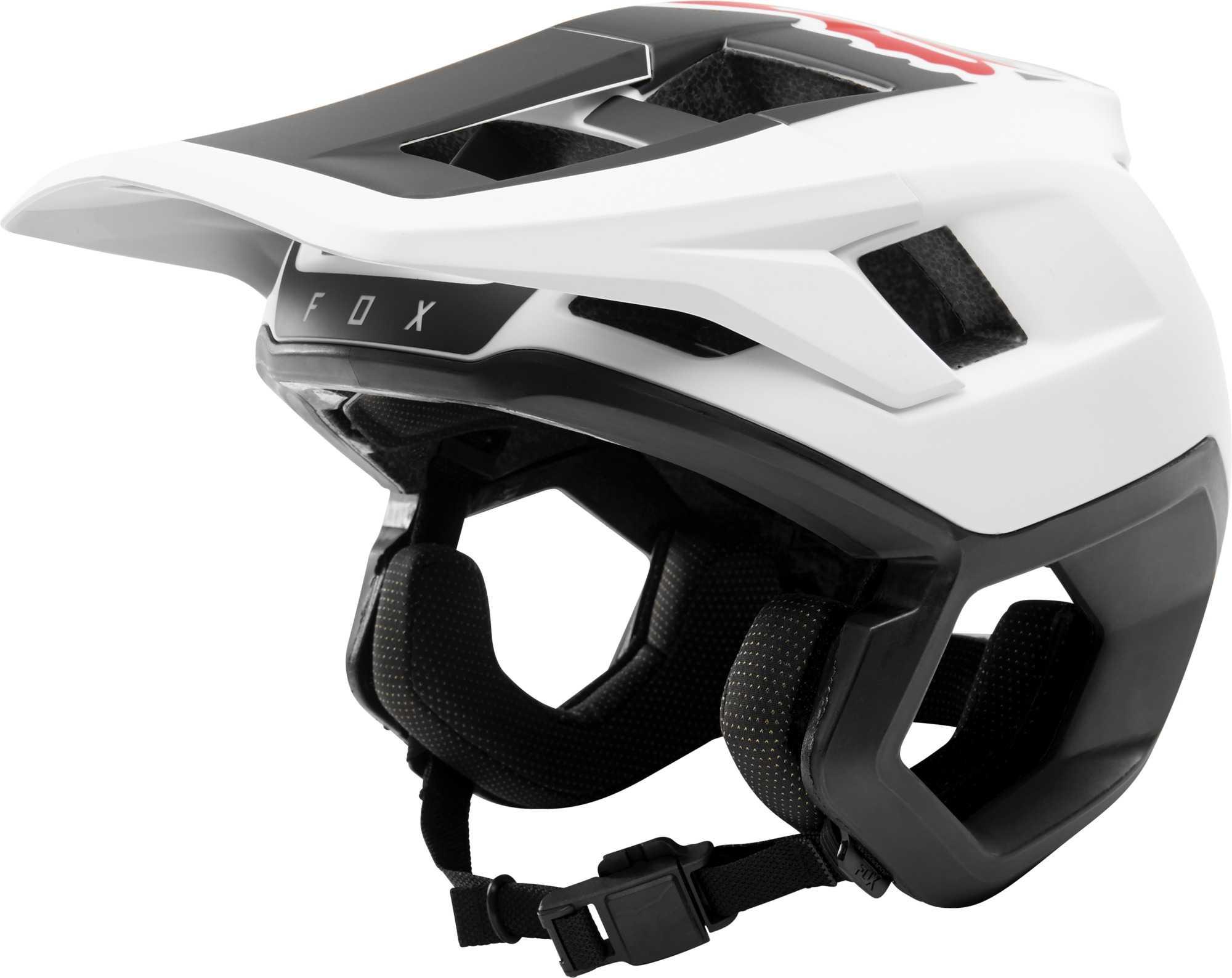 Hjelm Fox Dropforane hvid/sort | Helmets