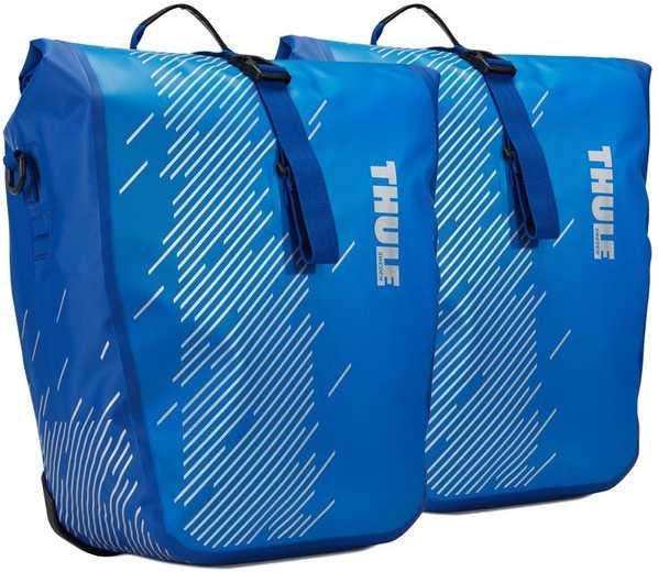 Pakningstaske Thule Shield Pannier large 2 x 24 l blå | Tasker til bagagebærer