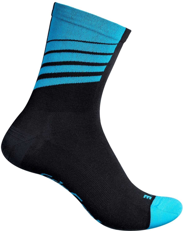 Strømper GripGrab Racing Stripes sort/blå | Strømper