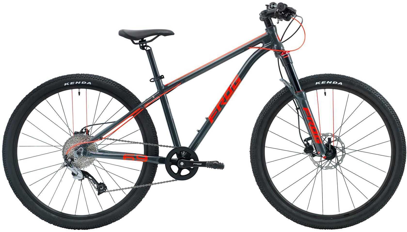 Frog MTB 69 grå metallic/neonröd | Mountainbikes