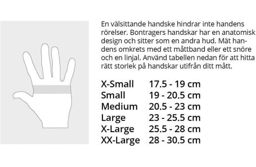 Storleksguide Bontrager handskar