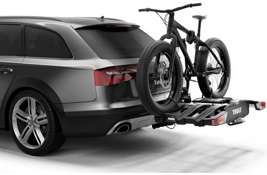 Tack vare den höga lastkapaciteten går det även att transportera elcyklar och tunga mountainbikes