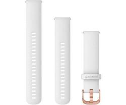 Armband Garmin Quick Release 20 mm silikon vit/roséguld