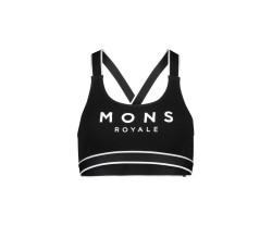Sport-BH Mons Royale Womens Stella X-Back Bra Svart