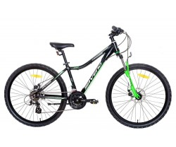"MTB Saveno Carrera Jr Disc 26"" Black/Green"