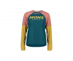 Töja Mons Royale Womens Tarn Freeride LS Wind Jersey Blue