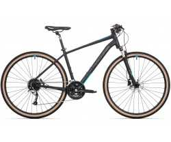Rock Machine Crossride 700 Matte Black/Petrol Blue/Dark Grey