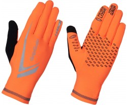 Handskar GripGrab Running Expert Hi-Vis Winter orange