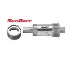 "Vevlager Sunrace fyrkantsaxel Alu High-End 68 x 111 mm BC 1.37"" x 24T gänga"