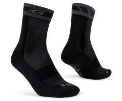 Pyöräilysukat GripGrab Merino Winter Sock Musta