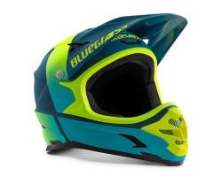 Cykelhjälm Bluegrass Intox blå/gul