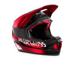 Cykelhjälm Bluegrass Legit Carbon svart/röd metallic