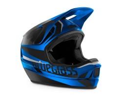 Cykelhjälm Bluegrass Legit svart/blå metallic