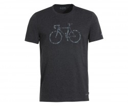 T-Shirt Vaude Men's Cyclist T-Shirt V svart