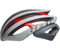 Cykelhjälm Bell Z20 MIPS grå/röd