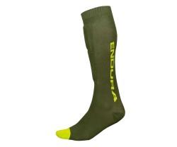 Benbeskyttere Endura SingleTrack Shin Guard Sock grøn