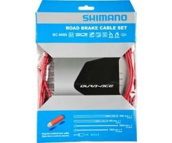 Bromsvajerset Shimano Dura-Ace 9000 Polymer-Belagda Vajrar röd