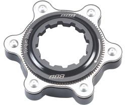 Adapter IS 6 bultars Bromsskiva till centerlock Nav BBB Centerfit svart/silver