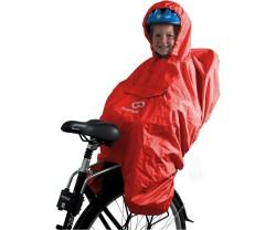 Poncho Hamax för cykelsits röd one-size