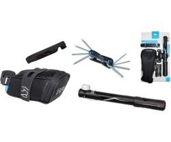 Kombipack Pro Sadelväska. Minipump Miniverktyg. Däcksavtagare