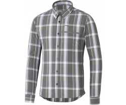 Cykelskjorta Shimano Transit Check Button Up brun