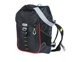 BASIL BICYCLE BAG MILES DAY PACK 17L BLACK LIME