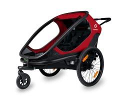 Cykelvagn Hamax Outback 2 barn Röd/ Svart