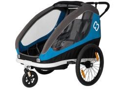Cykelvagn Hamax Traveller 2 barn blå/grå
