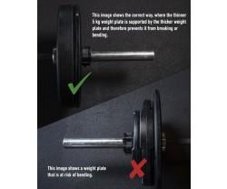 Viktskiva Bumper Master Fitness Hi Impact Bumper 5 KG
