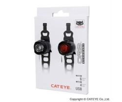 Fram- och baklampa Cateye Orb Laddningsbar Kit