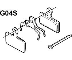 Bremsekloss Shimano G04s Metallic 1 Par