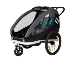 Cykelvagn Hamax Traveller 2 barn svart/grå