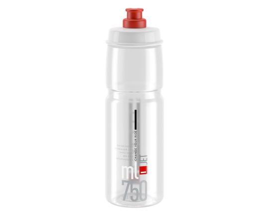 Flaska Elite Jet 750 ml klar/röd