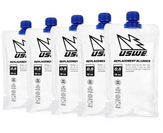 Vätskebehållare USWE Refill 0.5 l transparent 5-pack