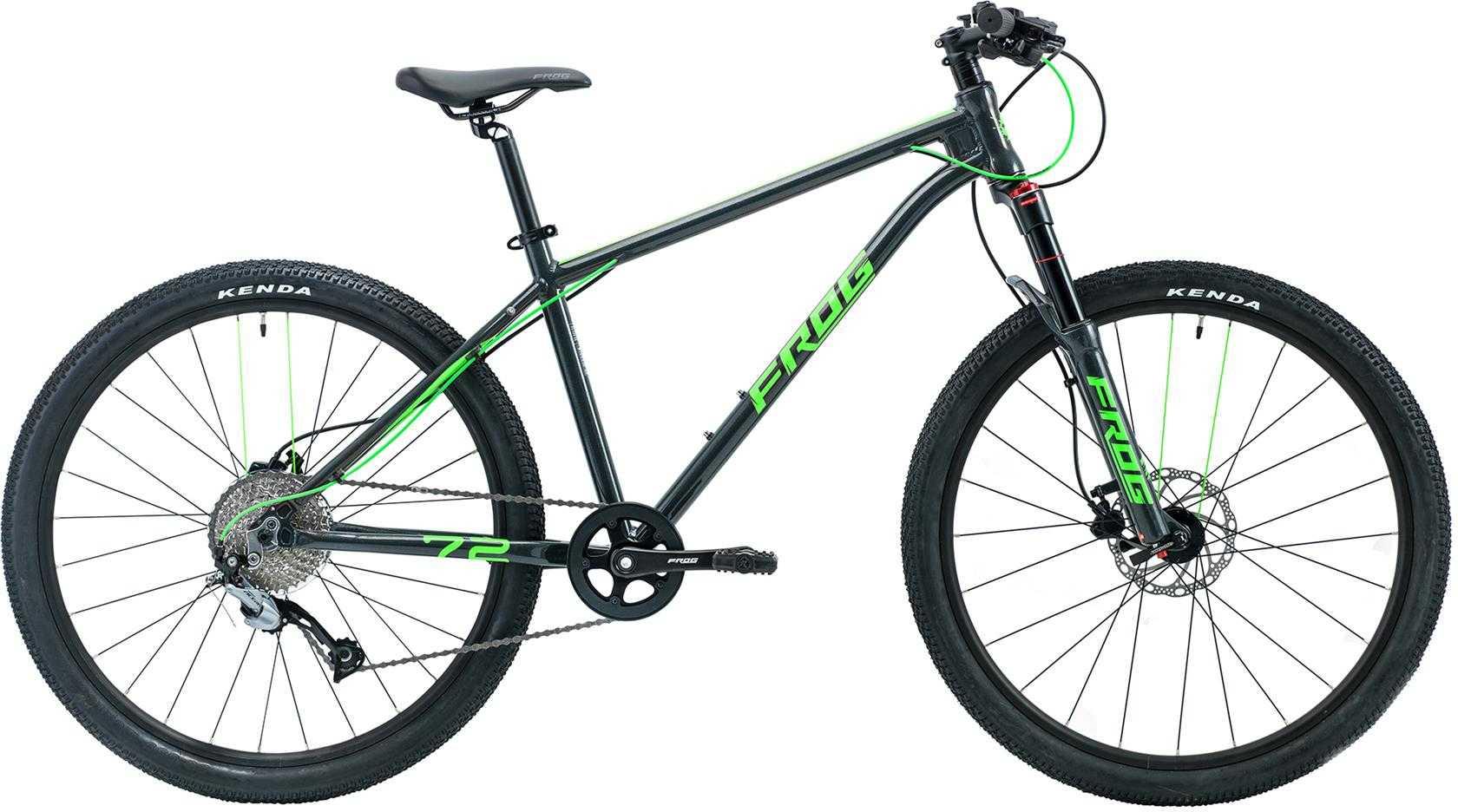 Frog MTB 72 grå metallic/neongrön | Mountainbikes