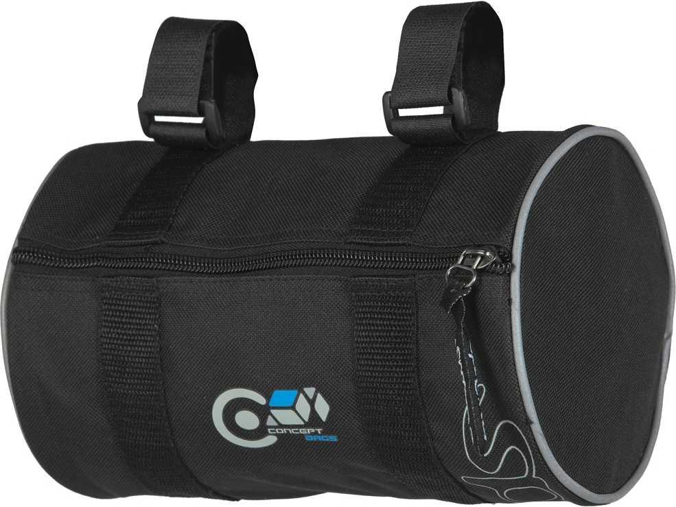 Cykeltaske Styrebeslag Spectra Runde med stropper 1,5 l sort | Tasker til bagagebærer